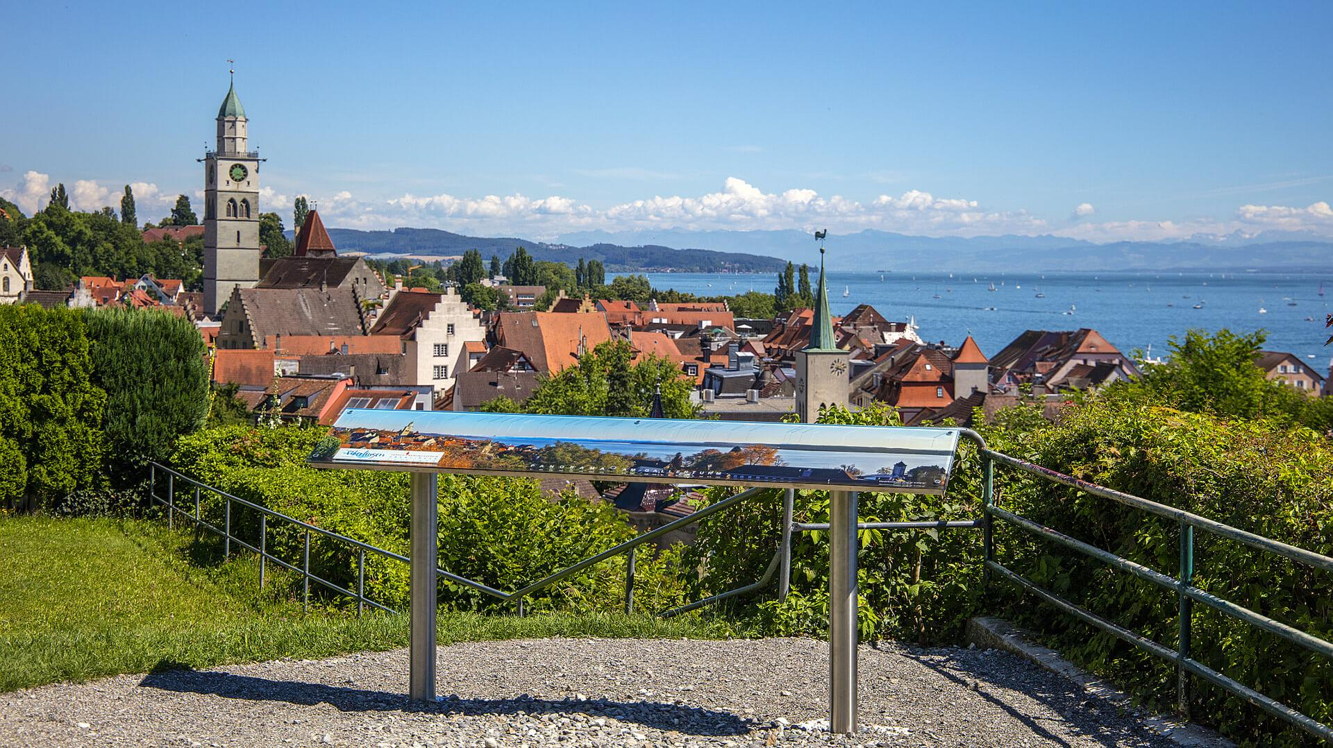 Panoramatafel in Überlingen