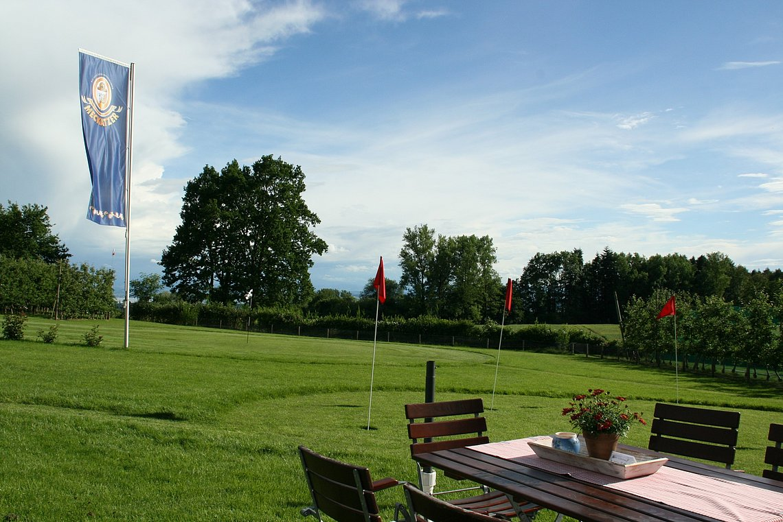 Hofcafe am Bodensee Swingolf mit Aussicht