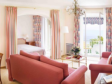 Juniorsuite Seeseite Balkon Hotel Bad Schachen Lindau am Bodensee