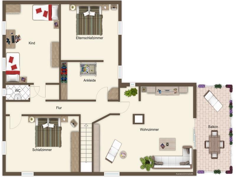 Ferienhaus sieger in salem for Kinderzimmer 7 qm